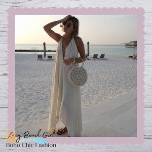 Halter Neck Maxi Loose Dress Cover-up